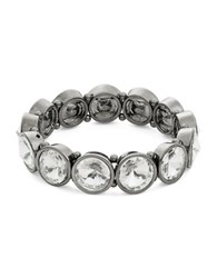 Catherine Stein Headlights Stone Stretch Bracelet Silver