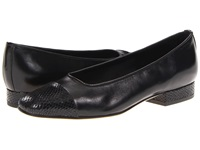 Vaneli Fc 313 Squama Black Nappa Squama Print Women's Dress Flat Shoes