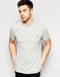 Dkny Polo Shirt Short Sleeve Logo Chest Grey