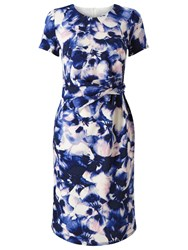 Precis Petite Ade Soft Petal Dress Multi Blue