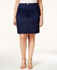 Charter Club Plus Size Skort Only At Macy's Intrepid Blue