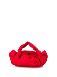 The Row Twisted Silk Mini Tote Red