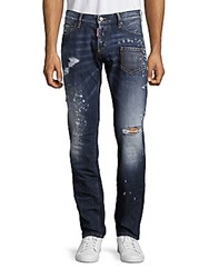 Dsquared Low Rise Slim Fit Jeans Blue