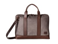Frye Carter Slim Briefcase Slate Canvas Briefcase Bags Blue