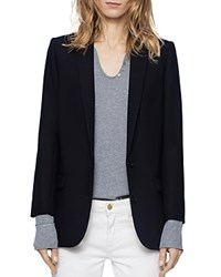 Zadig And Voltaire Viva Butterfly Blazer Navy