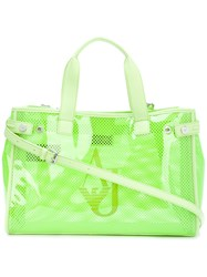 Armani Jeans Neon Shoulder Bag Women Plastic One Size Green