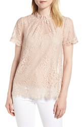 Chelsea 28 Chelsea28 Lace Ruffle Collar Blouse Pink Dust