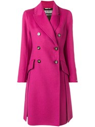 Sportmax Double Breasted Coat Pink