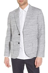 Good Man Brand Soft Cotton Blazer Grey Heather White