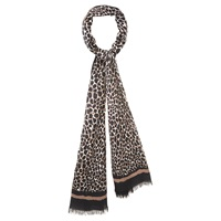 Viyella Animal Print Scarf Natural