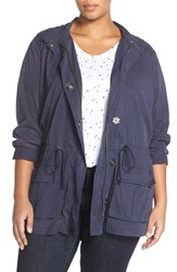 Plus Size Women's Sejour Twill Hooded Drawstring Jacket