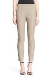 Women's St. John Collection Stretch Nappa Leather Crop Leggings