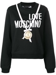 Love Moschino Medal Print Sweatshirt Black