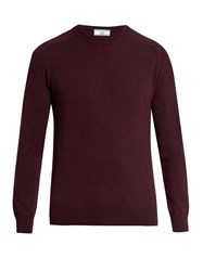Ami Alexandre Mattiussi Raglan Sleeved Wool And Cashmere Blend Sweater Purple