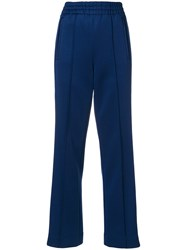 Marc Jacobs Colour Block Track Trousers Polyester Spandex Elastane Blue