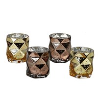 Pols Potten Diamond Candle Holders Set Of 4