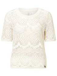 Numph Olena Knitted Top White