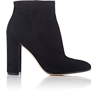 Gianvito Rossi Women's Suede Side Zip Ankle Boots Black Blue Black Blue