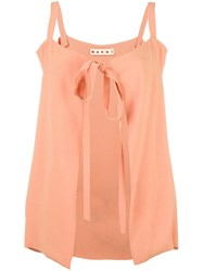 Marni Tie Front Cami Top Pink Purple