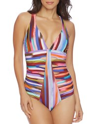 Athena Kaliedostripe Daniela One Piece Swimsuit Multi