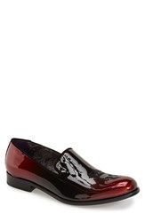 Men's Robert Graham 'Prince' Loafer Red Black