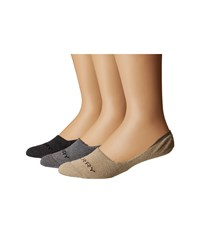Sperry Luxe Cushioned Liners 3 Pack Gray Marl Assorted Crew Cut Socks Shoes Multi