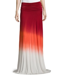Young Fabulous And Broke Young Fabulous And Broke Bangal Ombre Convertible Maxi Dress Skirt Red Orange