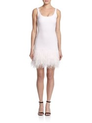 Elizabeth And James India Feather Hem Dress Pale Pink