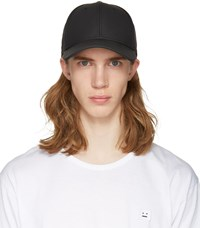 Rag And Bone Black Leather Baseball Cap