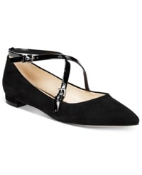 Nine West Anastagia Strappy Pointed Toe Flats Women's Shoes Black