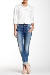 7 For All Mankind The High Waisted Vintage Straight Leg Jean Blue