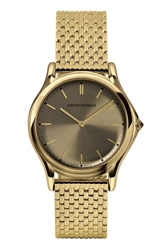 Emporio Armani Swiss Made Round Bracelet Watch 36Mm Gold Bronze