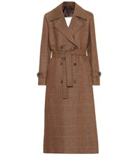 Giuliva Heritage Collection The Christie Wool Trench Coat Brown
