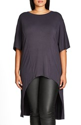 City Chic Plus Size Women's High Low Top