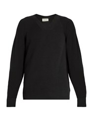 Christophe Lemaire V Neck Cotton And Cashmere Blend Sweater Grey Multi
