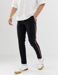 Only And Sons Trousers With Side Stripe Black