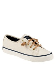 Sperry Seacoast Canvas Sneakers Ivory