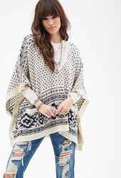 Forever 21 Diamond Pattern Poncho