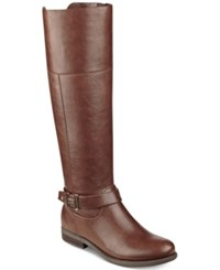 Tommy Hilfiger Shahar Wide Calf Riding Boots Women's Shoes Luggage