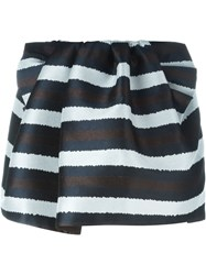 N 21 N.21 Striped Mini Skirt Black