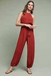 Anthropologie North Beach Jumpsuit Dark Orange