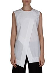 Acne Studios Sleeveless Asymmetric Blouse White