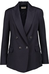 Temperley London Isaac Polka Dot Wool Blazer Blue