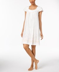 Charter Club Lace Trim Cotton Nightgown Created For Macy's Garden Border