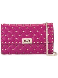 Valentino Garavani Quilted Clutch Pink Purple