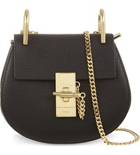 Chloe Drew Nano Saddle Cross Body Bag Black