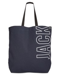 Jack Spade Men's Canvas Tote Navy White