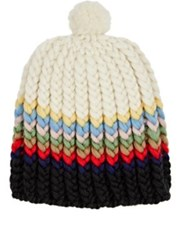 Wommelsdorff Women's Allie Striped Chunky Virgin Wool Beanie No Color