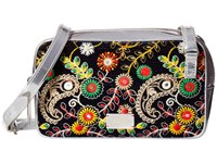 Frances Valentine Lucy Floral Embroidery Crossbody Navy