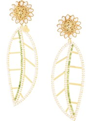 Mercedes Salazar Hoja Blanca Del Paramo Earrings Gold